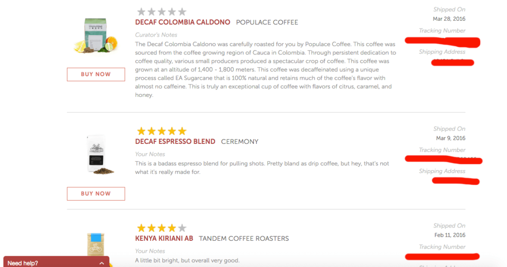 MistoBox Coffee History