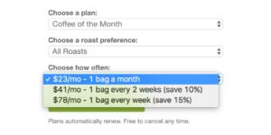 Bean Box Subscription Pricing